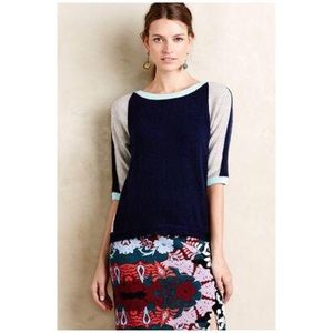 ANTHROPOLOGIE FIELD AND FLOWER XS COLOR BLOCK